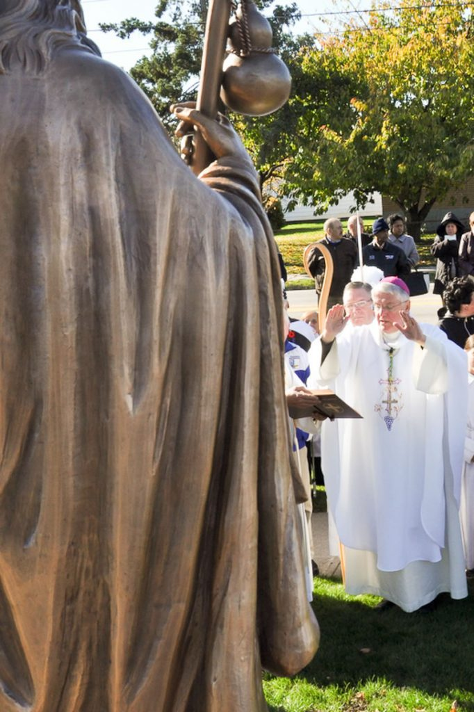 Blessing of the statue by His Excellency, Bishop Douglas Crosby
